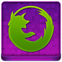 Pink Firefox Coloured Icon 128x128 png