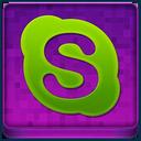 Pink Skype Coloured Icon