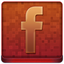 Red Facebook Coloured Icon 128x128 png