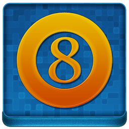 Blue 8Ball Coloured Icon 256x256 png
