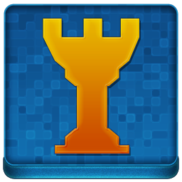 Blue Chess Tower Coloured Icon 256x256 png