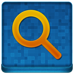 Blue Search Coloured Icon 256x256 png