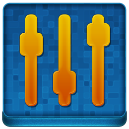 Blue Settings Coloured Icon 256x256 png