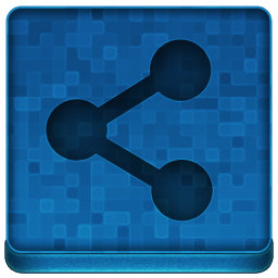 Blue Share Icon 256x256 png