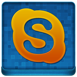 Blue Skype Coloured Icon 256x256 png