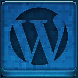 Blue WordPress Icon 256x256 png