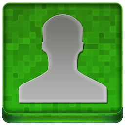 Green User Coloured Icon 256x256 png