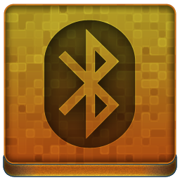 Orange Bluetooth Icon 256x256 png