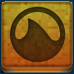 Orange Grooveshark Icon 256x256 png
