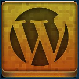 Orange WordPress Icon 256x256 png