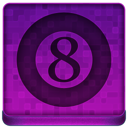 Pink 8Ball Icon 256x256 png
