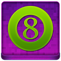 Pink 8Ball Coloured Icon 256x256 png