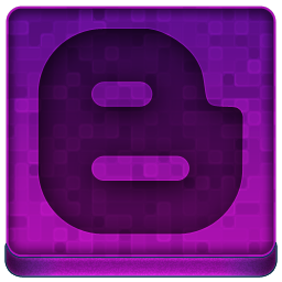 Pink Blogger Icon 256x256 png