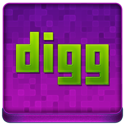 Pink Digg Coloured Icon 256x256 png