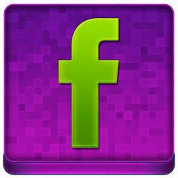 Pink Facebook Coloured Icon 256x256 png