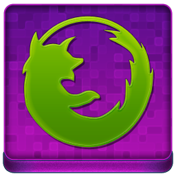 Pink Firefox Coloured Icon 256x256 png