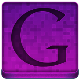 Pink Google Icon 256x256 png