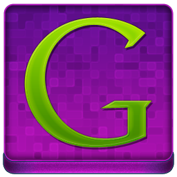 Pink Google Coloured Icon 256x256 png