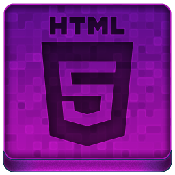 Pink HTML5 Icon 256x256 png