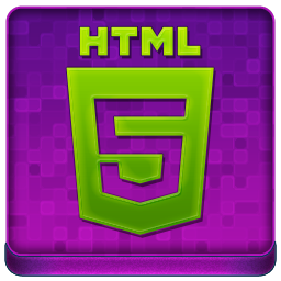 Pink HTML5 Coloured Icon 256x256 png