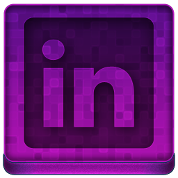 Pink Linked In Icon 256x256 png