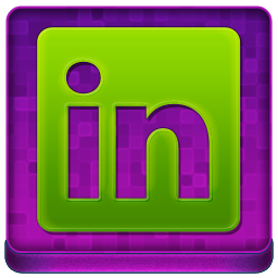 Pink Linked In Coloured Icon 256x256 png