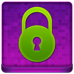 Pink Lock Coloured Icon 256x256 png