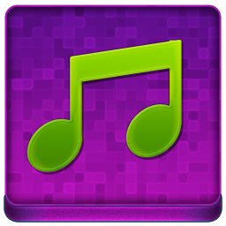 Pink Music Coloured Icon 256x256 png