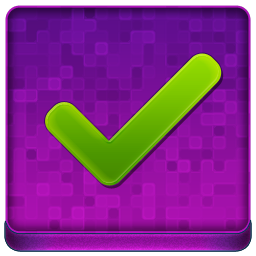 Pink Ok Coloured Icon 256x256 png