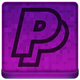 Pink PayPal Icon 256x256 png