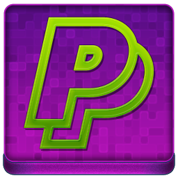 Pink PayPal Coloured Icon 256x256 png