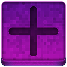 Pink Plus Icon 256x256 png