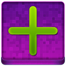 Pink Plus Coloured Icon 256x256 png