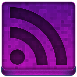 Pink RSS Icon 256x256 png