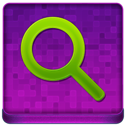 Pink Search Coloured Icon 256x256 png