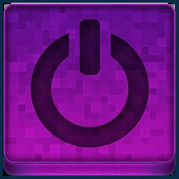 Pink Shutdown Icon 256x256 png