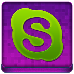 Pink Skype Coloured Icon 256x256 png