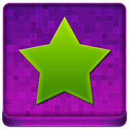 Pink Star Coloured Icon 256x256 png