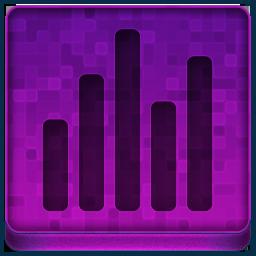 Pink Statistics Icon 256x256 png