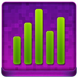 Pink Statistics Coloured Icon 256x256 png