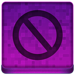 Pink Stop Icon 256x256 png