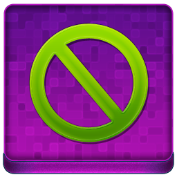 Pink Stop Coloured Icon 256x256 png