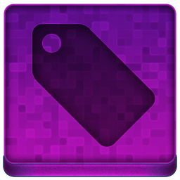Pink Tag Icon 256x256 png