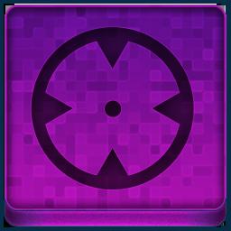 Pink Target Icon 256x256 png