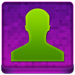 Pink User Coloured Icon 256x256 png