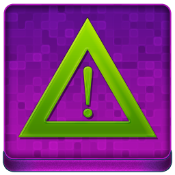 Pink Warning Coloured Icon 256x256 png