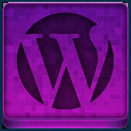 Pink WordPress Icon 256x256 png