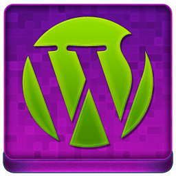 Pink WordPress Coloured Icon 256x256 png