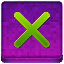 Pink X Coloured Icon 256x256 png