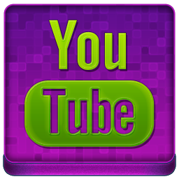 Pink YouTube Coloured Icon 256x256 png